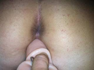 She likes it when my tongue is licking her ass and fucking her with a toy!