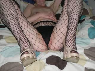 fishnets thong heels fun fun