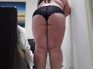 You look awesome! Would love to take those panties down and bend you over a bit more, then I will put my cock deep inside you