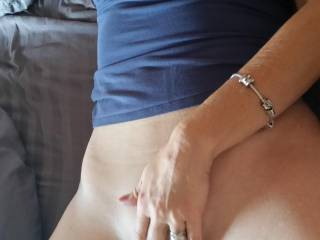 I'd love to help too! Maybe I could lick and suck on your clit to add a little something extra.
