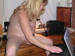 My wife was doing a cam show with some guys while playing with herself