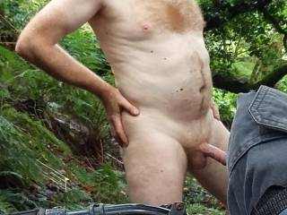Just love cycling naked and went for ride in local woods.