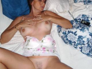 Candi Annie lays back and spreads her legs so that everyone can see her beautiful pussy- anyone interested in taking a taste?
