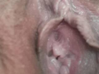 Another pic that Kiki sent me of her hungry pussy hole. She's such a horny little slut!