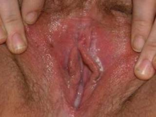 Closeup pic of my wifes pussy