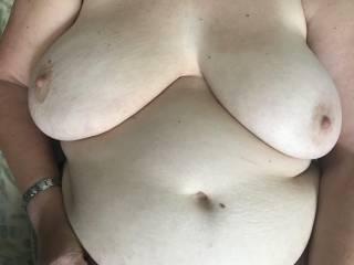 The wife's soft big tits