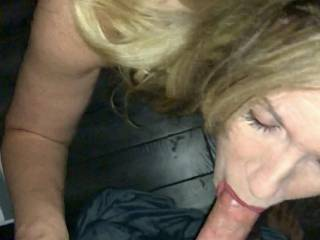 Wifey sucking some dick on knees