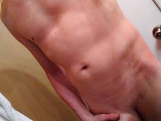 Hubby\'s thick cock waiting to get drained.