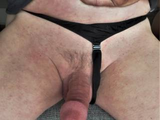put my thong on and then move it over when i got hard..