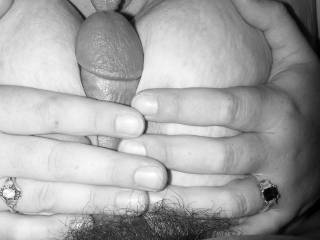 a little titty fucking and licking the head when it pops out.