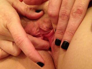 Check out my hot black nails.  They make me feel nasty, especially when I'm using them to finger myself.
