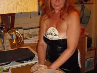Could always get oiled, basted & floured.... Now there's a hot but messy idea.