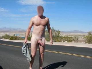I love being naked outdoors, would love to see you out, that cock is gorgeous!
