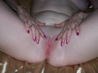 Beautiful and immaculately manicured. I would love to serve both of your holes with my tireless tongue, endless hours until your kitty cum into my mouth.........