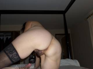 That is a view I would love to see for myself as she slides onto my cock.