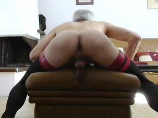 Bending over and waiting !