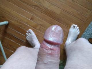 Found someone to play with, hard cock after getting sucked on.