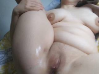 My fresh fucked cum filled pussy... Give me more??