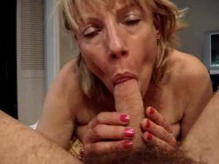 my my my that is one hot view of you sucking cock. I would so love to feel that mouth on my cock
