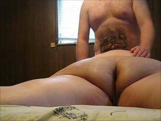 Interesting angle in the opening of the clip. Would be great to play with her naked ass while she tends to your cock!