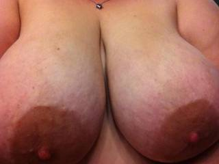 love to see those beautiful titties swinging in my face while you ride my stiff cock!!!!!!!!!!!!!!! mmmmmmm-nice big nipples!!!!!!