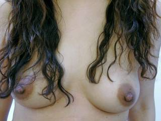 Want to suck and play with my big sensitive nipples? Send me some of your naughty comments ;)