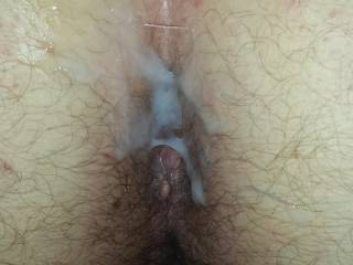 Fantastic pic of her sexy hairy pussy sweet lil tight ass has me craving to go next for the most incredibly sloppy seconds ever and yes another huge hot load to cum next!
