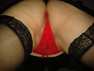 Pull your wet panties aside, separate your pussy lips with my tongue and lick your hot horny clit...