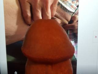 Dick on top of nice pussy