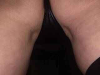 Her posing ready for me to lick her ass and spank her