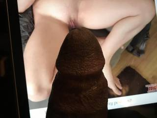 thinking about teasing her clit with the head of this bbc. mmmmmm