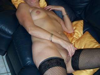 Beautiful lady. I'd love t be between your legs eating that pussy.