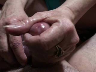 Just a short video of me pulling on his cock until he releases his warm cum load 4 different times on my hand. Do you like my Handjob skills?