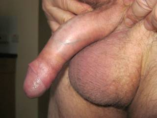 Showing my dick and balls to some horny friends at a recent party