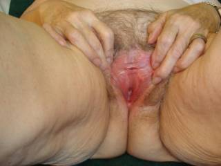 Oh yes, this is a perfect view of your lovely peehole, I'd love to push the tip of my tongue into your peehole while licking your pussy, sooooo hot and sexy, excellent pic!
