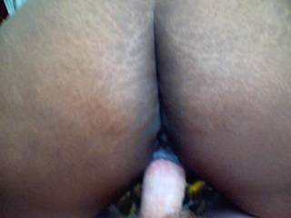 bunny ridding her ass on hubbys cock and him cumming inside of her ass