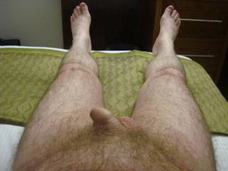So so sexy!!  I want to lick and suck your cock and those feet too