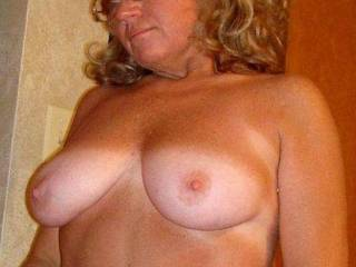 I would love to shoot a huge load all over your big titties and watch as the cum drips off our delicious nipples.