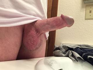 Just an average cock looking for a warm mouth or wet pussy...