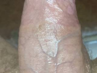 Hard cock with not a lot of light