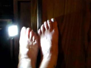 My feet do a striptease. Shoes to bare feet is for the foot fetishist.