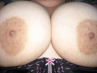 Wouldn\'t you like to slide your cock between these titties ? Show me how much, cum on them...