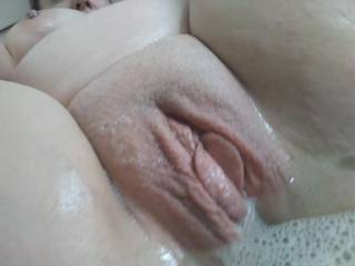 Beautiful pussy in the bath