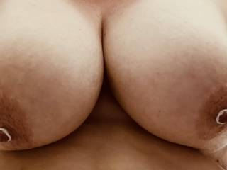 Pets nipple training is going well. They will be tighter next time! Suck them off or crop them off…vote below and I'll post a picture of the most popular result!