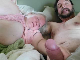 Morning fun with my perfect wife.