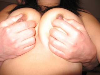 Great shot. I'd love to be sucking those wonderful nipples.