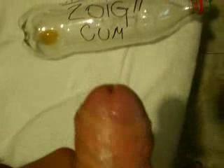I just cummed on a coke bottle! it's really naughty! i love that i hope u too!