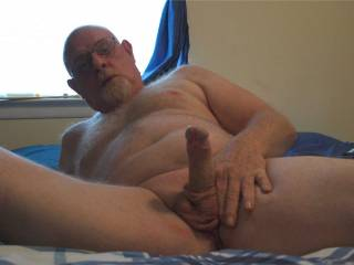 MMM ... Sexy Man!! LOVE the Beard!! And LOVE your Hard Mature Cock too mmm Very Succulent!!   Naughty Mature Lucy♥ -x-