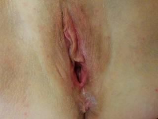 Sticky pussy after sex