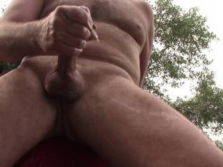 i get naked in the back yard and oil up my dick(little too much oil) and bend over and milk myself  which is my favorite position to be jerked off, milked like a horny cow, any one else like that or doing that to others?